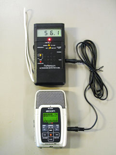 A D240X connected to a Zoom H2 recorder